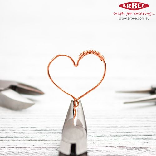 Wire Heart made with Jewellery Tools