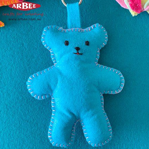 Handmade felt teddy toy