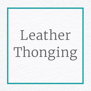 Leather Thonging for Jewellery Making