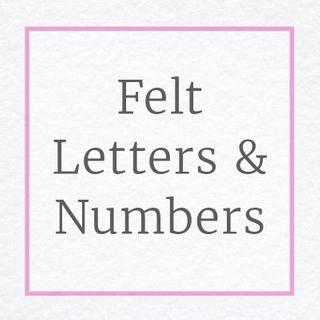 Felt Numbers Letters Australia