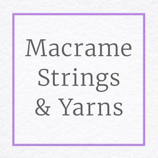 Macrame Strings, Metallic Yarn, Tinsel Yarn