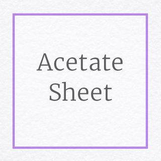 Acetate Sheet for Craft