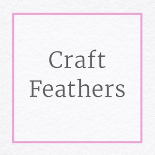 Craft Feathers White, Yellow, Red & More Colours