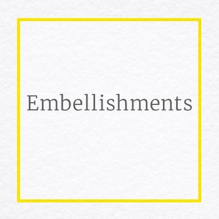 Embellishments for Sewing, Scrapbooking, Cardmaking