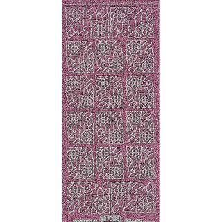 Stickers Corners Floral Pink
