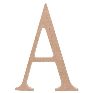 Wooden Letters Med A