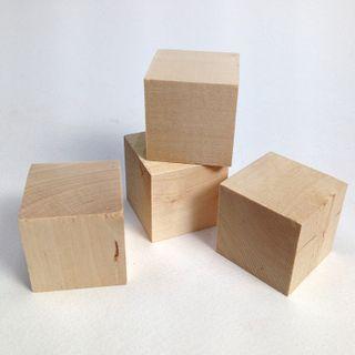 Wood Craft Cubes 35mm Natural Pkt 4
