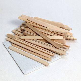 Mini Craft Sticks Natural Pkt 80