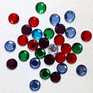 Glass Stone 5mm Mixed 25G