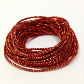 Metallic Cord 8ply Red 4.8m