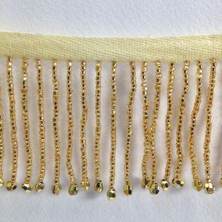 Bead Fringe Trim Gold 13m