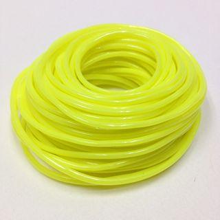 Plastic Tubing 1.6x1.8mm Neon Yellow 10m