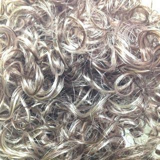 Hair Curly Light Brown 25g
