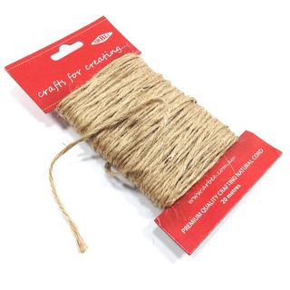 Macrame String Natural Dark 20m