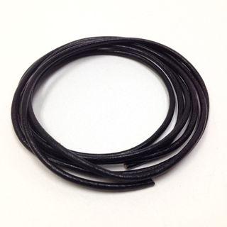 Leather Thonging 1mm Round Black 1m