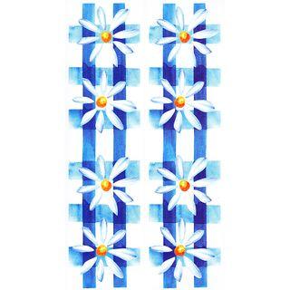 Dec/Borders Daisy Design Blue