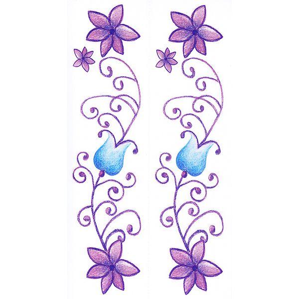 Dec/Borders Purple/Blue Flowers