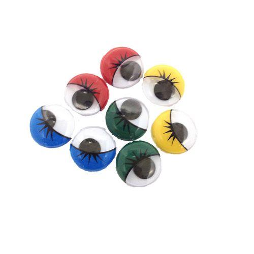 Eyes Jog w/Lashes Glue On Ass 8mm Pkt 10