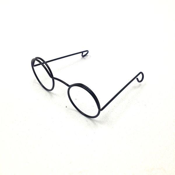 Eye Glasses Round 25cm Black Pkt 1