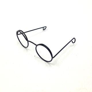 Eye Glasses Round 3cm Black Pkt 1