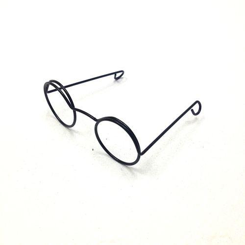 Eye Glasses Round 6cm Black Pkt 1