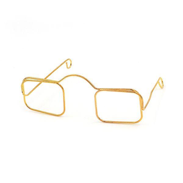 Eye Glasses Square 8cm Gold Pkt 1