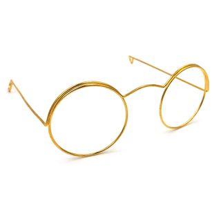 Eye Glasses Round 10cm Gold Pkt 1
