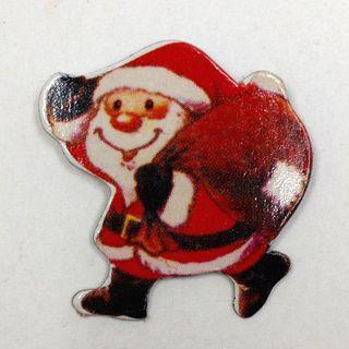 Cardboard Santa Red Pkt 7
