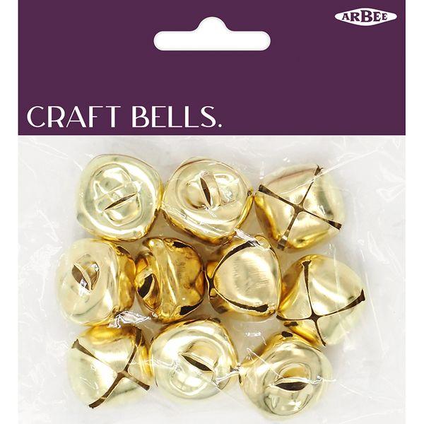 Folley Bells 25mm Gold Pkt 10
