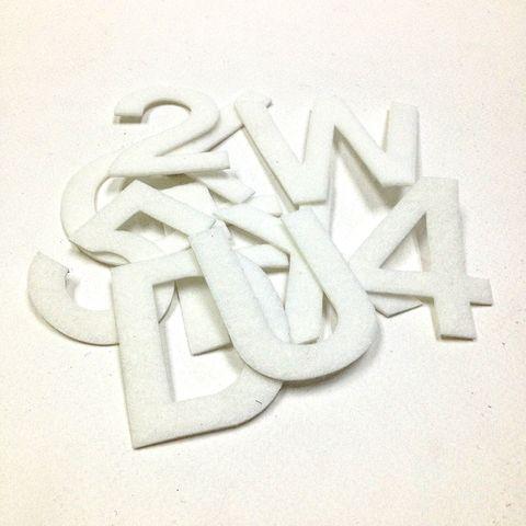 Adh Felt Letters & Num White Large Pkt94