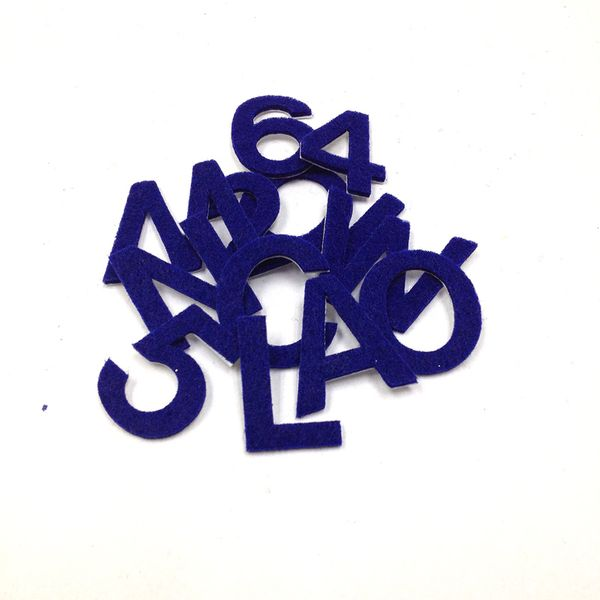 Adh Felt Letters & Num Blue Small Pkt 89