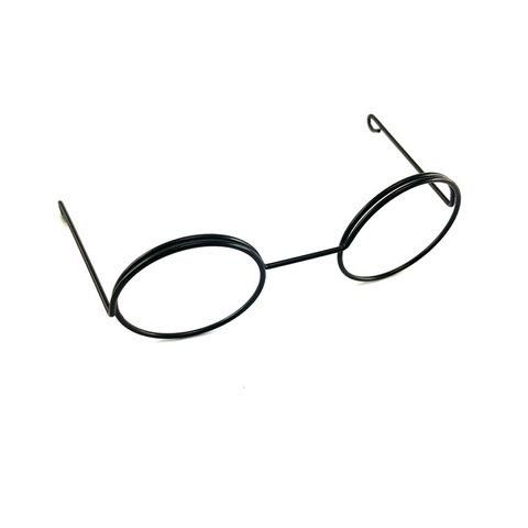Eye Glasses Round 8.5cm Black Pkt 1