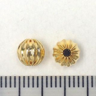 Spacer Beads 4mm Gold Pkt 50