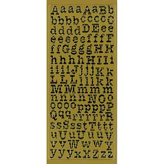 Stickers Alphabet U&L Case Gold
