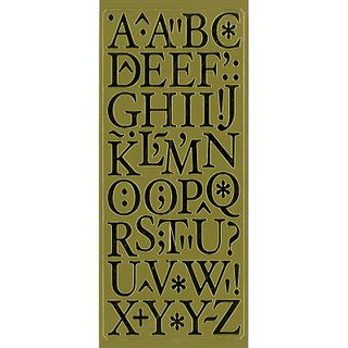 Stickers Alphabet & Punctuation Gold