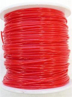 Plastic Tubing 1mm Red 80m
