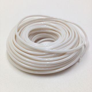 Plastic Tubing 1.6x1.8mm White 100m