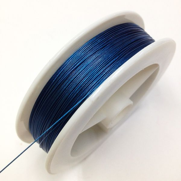 Beading Wire 0.38mm Blue 4m