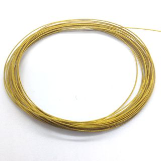 Beading Wire 0.38mm Gold 4m