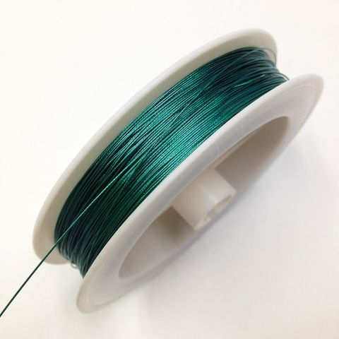 Beading Wire 0.38mm Green 4m