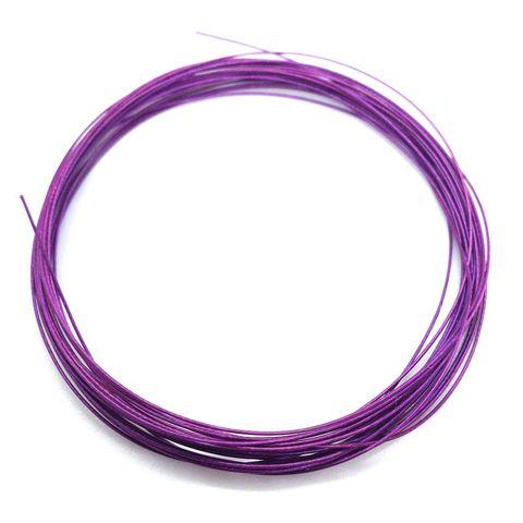 Beading Wire 0.38mm Purple 4m