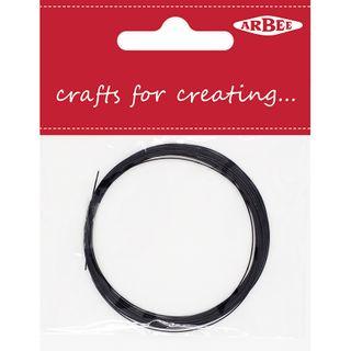Beading Wire 0.38mm Black 4m