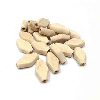 Wooden Bds 18x9.4mm Raw Pkt 20