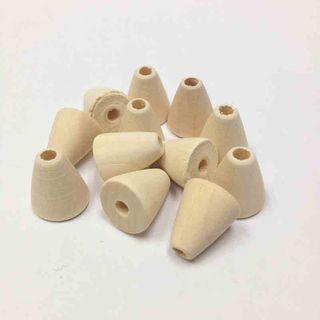 Wooden Bds 15x18mm Raw Pkt 6