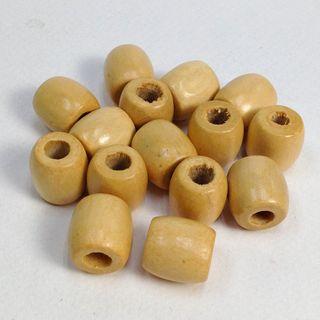 Wooden Barrel Bds 11x12mm Natural Pkt 30