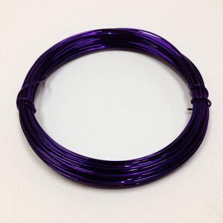 Beading Wire 18ga Purple 3.8m