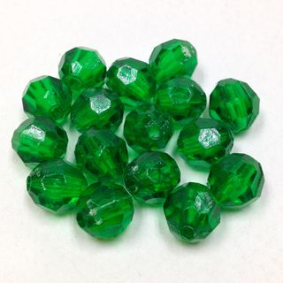 Faceted Bds 8mm Dark Green 250g