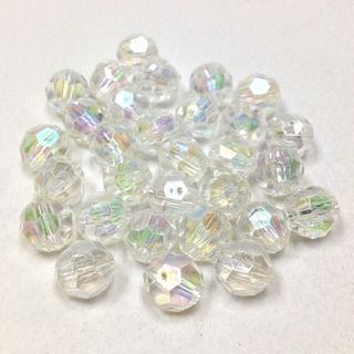 Faceted Bds 8mm Clear AB 250g