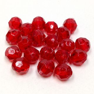 Faceted Bds 8mm Dark Red 250g
