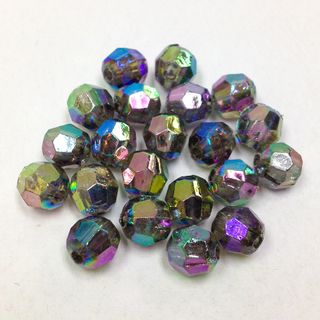 Faceted Bds 6mm Green AB 250g